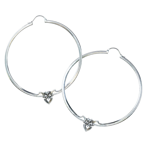 Amorette Silver Hoop Earrings - ASTOR + ORION ethically made jewelry