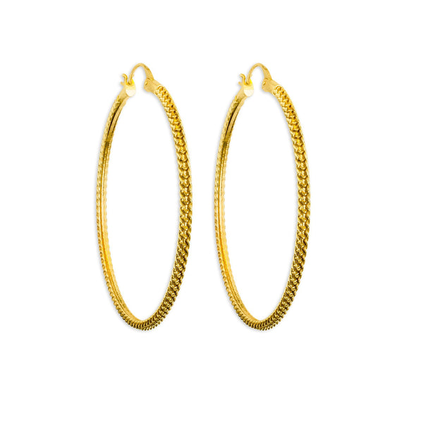 Anacita Braided Gold Hoop Earrings - ASTOR + ORION ethically made jewelry
