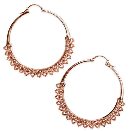 Amorette Minimalist Rose Gold Hoop Earrings