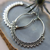 Corazon Silver Hoop Earrings - ASTOR + ORION ethically made jewelry