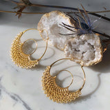 Dreamer Gold Hoop Earrings - ASTOR + ORION ethically made jewelry