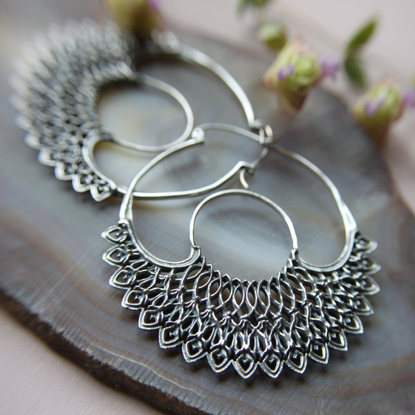 Dreamer Silver Hoop Earrings - ASTOR + ORION ethically made jewelry