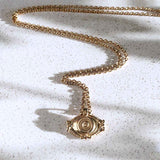 Evil Eye Charm Necklace in Gold - ASTOR + ORION ethically made jewelry