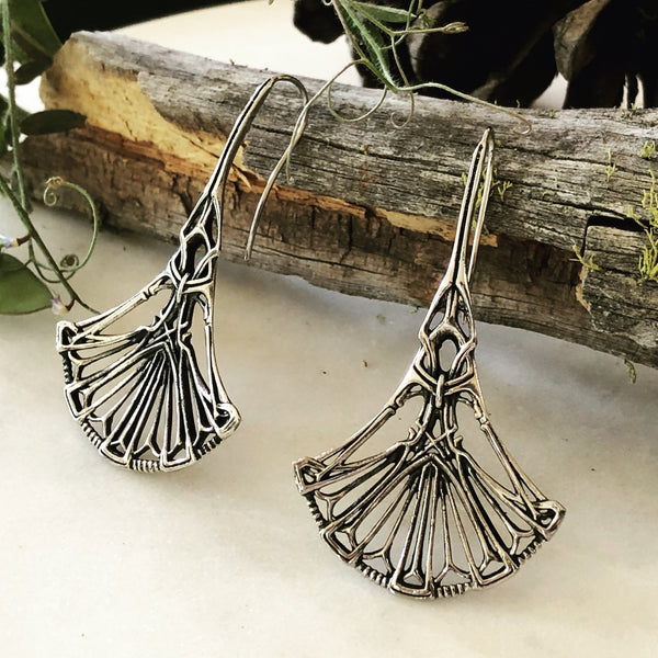 Faye Silver Dangle Earrings - ASTOR + ORION ethically made jewelry