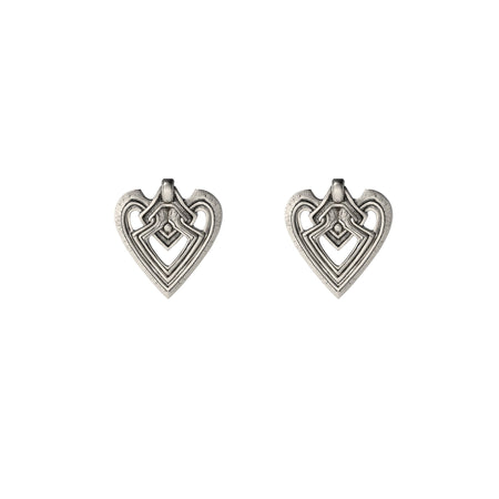 Heart Silver Threader Earring