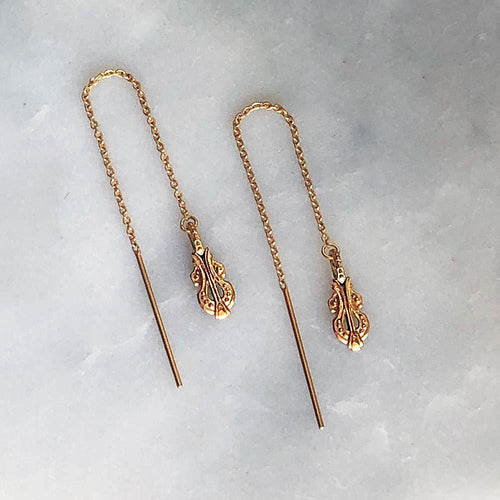 Melody Gold Threader Earrings - ASTOR + ORION ethically made jewelry