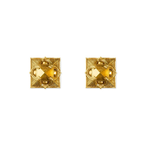 Pyramid Stud Earrings- 18k Gold - ASTOR + ORION ethically made jewelry