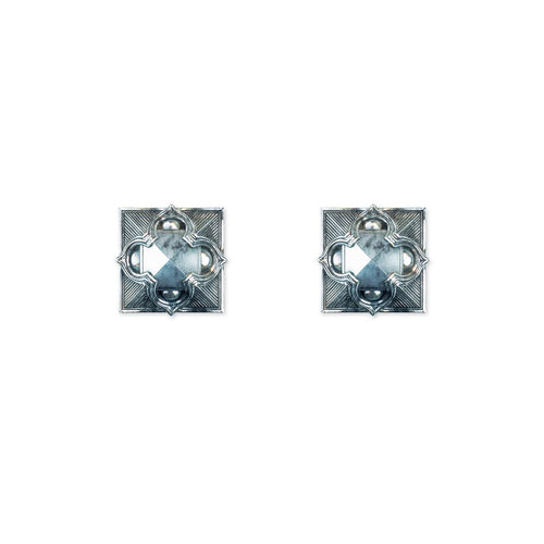 Pyramid Stud Earrings in Silver - ASTOR + ORION ethically made jewelry