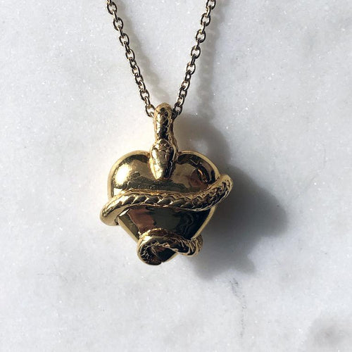 Wise Heart Gold Charm Necklace - ASTOR + ORION ethically made jewelry