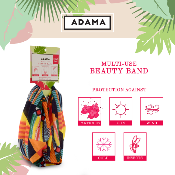 Multi-Use Beauty Band | Neck Gaiter and Face Cover | ADAMA BEAUTY CO. | Curly Haircare Accessories
