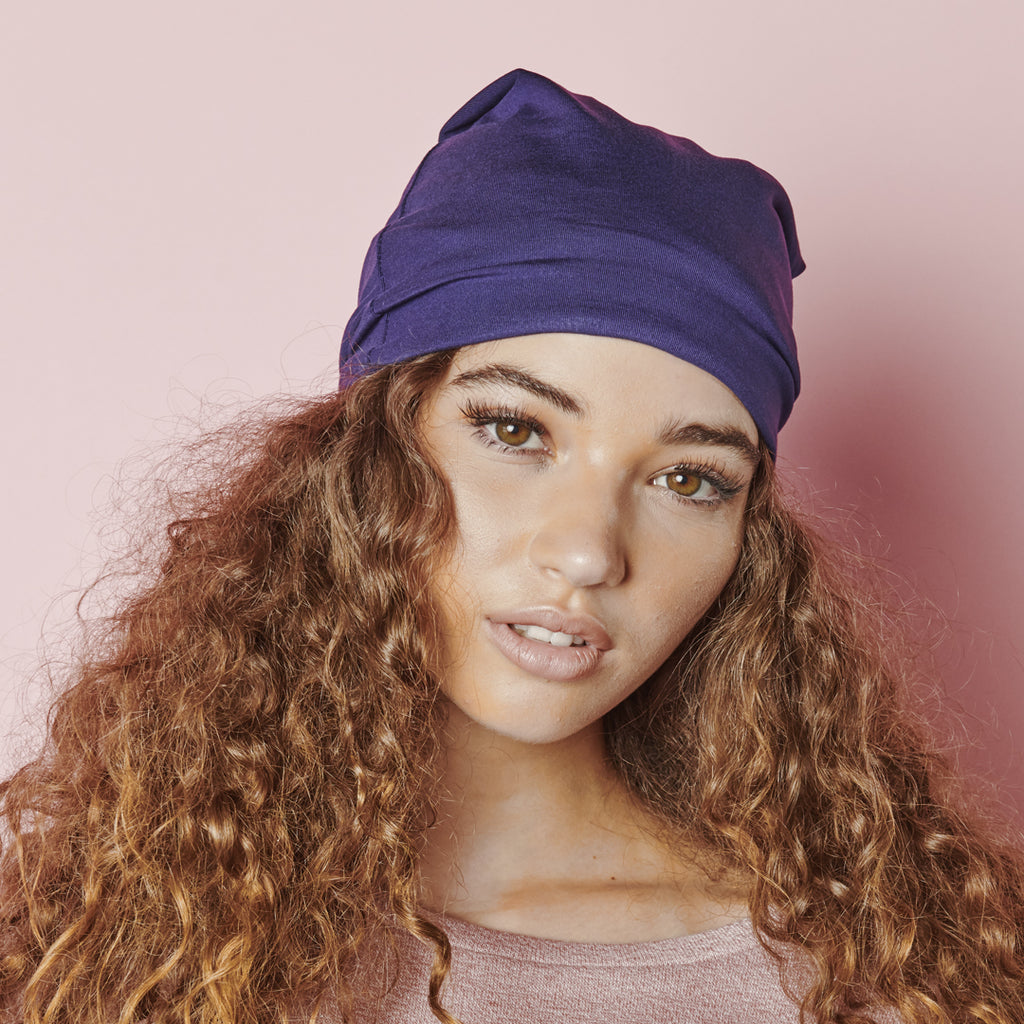 Satin Lined Jersey Beanie - ADAMA BEAUTY CO.