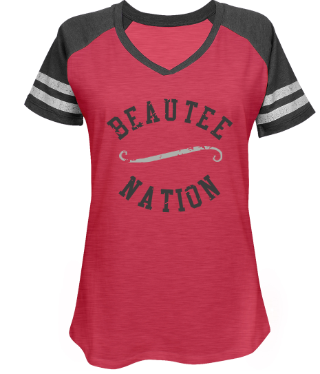 Beautee Nation Colorblock Distressed Vintage Sports Tee