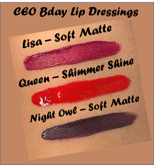 Beautee Lip Dressing - CEO BDay Shades