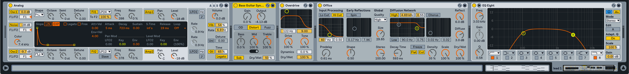 Ableton analog Drunk Groove Lead