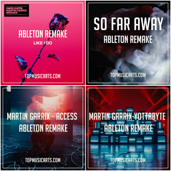 Ableton Template Producer Pack Bundle: Martin Garrix (4 Remakes)
