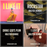 Ableton Template Pack Bundle #4 Hip-Hop (Cardi B, Drake, Post Malone, Kanye West,) 4 remakes