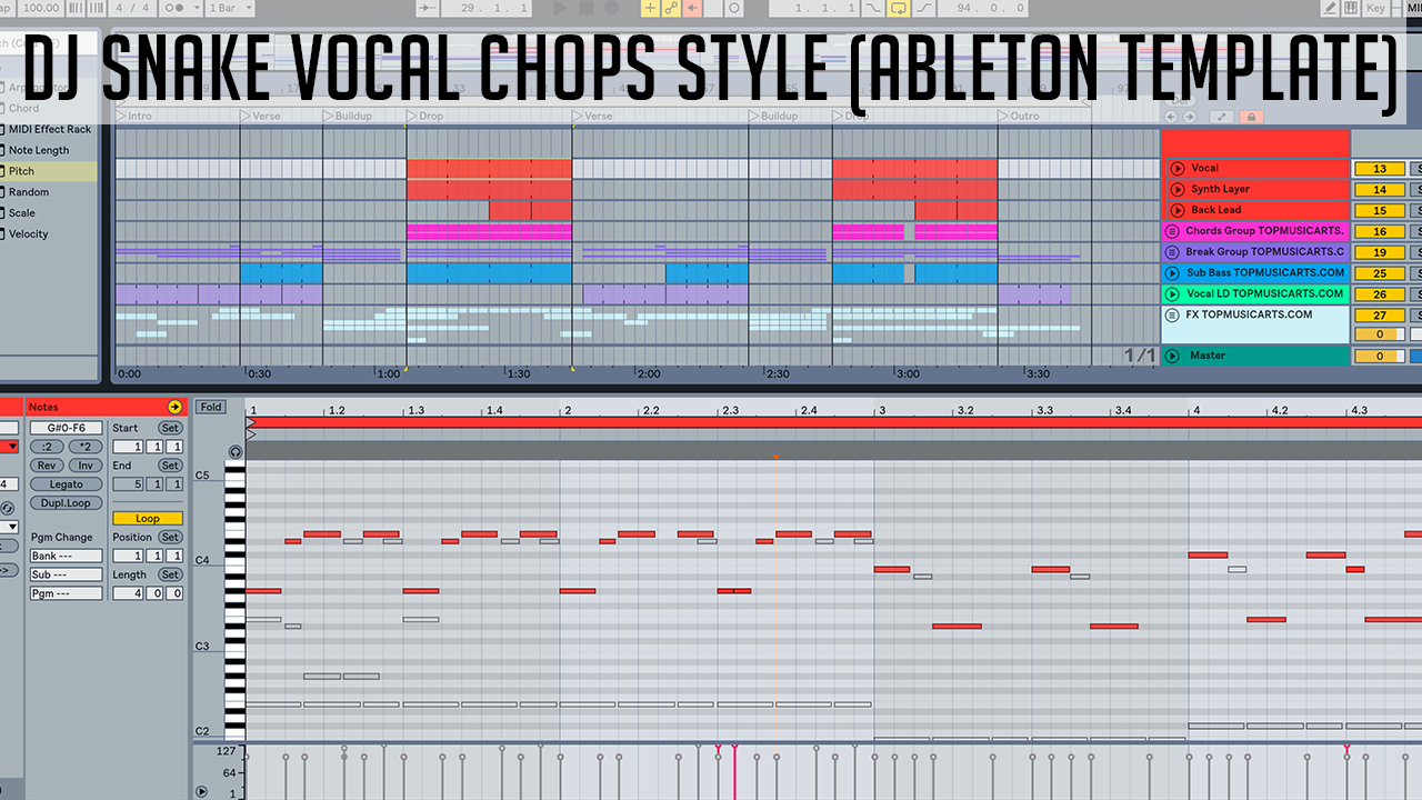 Dj Snake Vocal Chops Style Ableton Template – Top Music Arts
