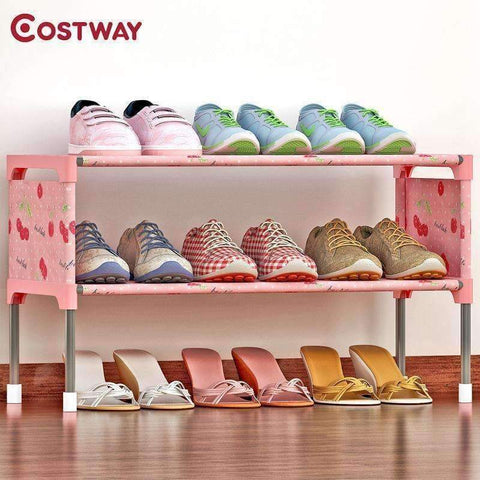 Image of Planet Gates 01 / China COSTWAY Non-woven 2 Tier Shoes Rack Shoe Cabinets Stand Shelf Shoes Organizer Living Room Bedroom Storage Furniture W0197