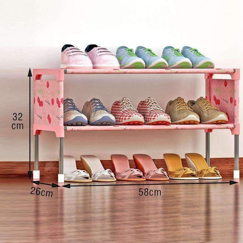 Planet Gates 01 / China COSTWAY Non-woven 2 Tier Shoes Rack Shoe Cabinets Stand Shelf Shoes Organizer Living Room Bedroom Storage Furniture W0197