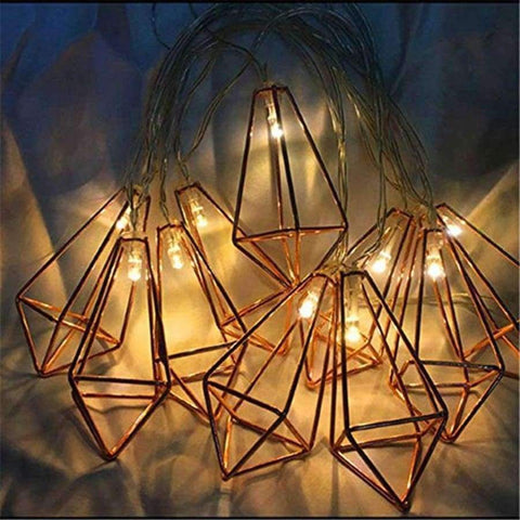 Image of Planet Gates 1.5m 10LEDs / Battery Powered Xsky Holiday Lights 10/20LED Iron Metal Diamond Fairy Led String Light For Home Garland Christmas Decoration Lantern String Lamp