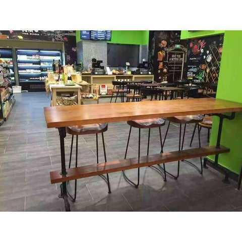 Planet Gates 1 bar stool The village of retro furniture,Vintage metal bar table,anti rust treatment,bar stool,100% wooden & metal table,bar furniture set