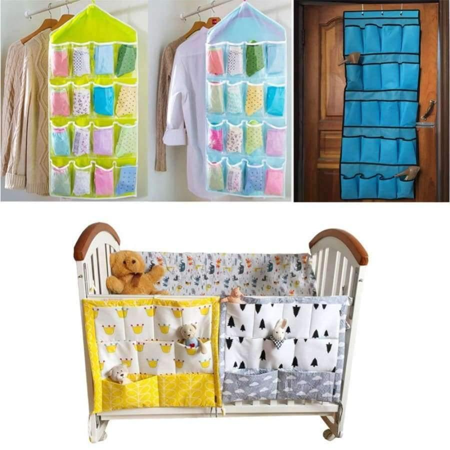 Planet Gates 1 Crib Baby Bed bumper Hanging Storage Bag Multi-functional muslin Baby Cot pocket Hanging Storage Bag Baby Bedding Bumper