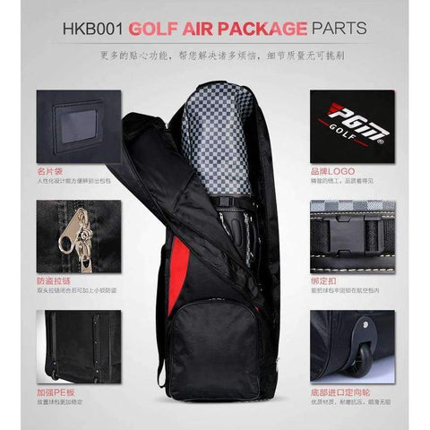 Planet Gates 1 PGM Genuine Golf air bag thickening type double deck aircraft bag with pulley golf bag
