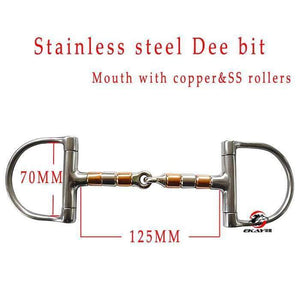 Stainless steel racing Dee bit, mouth with SS&copper rollers.Horse product ,horse racing product(BT0401)