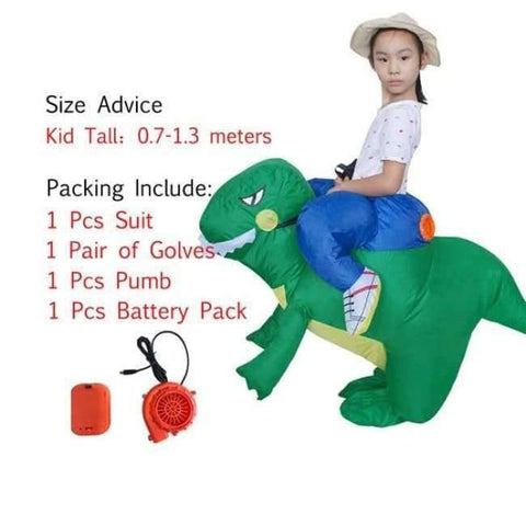 Planet Gates 1003 / One Size / Dinosaur Halloween costume for women inflatable dinosaur costumes for adults  men T-rex fancy dress kids adult Fan operated