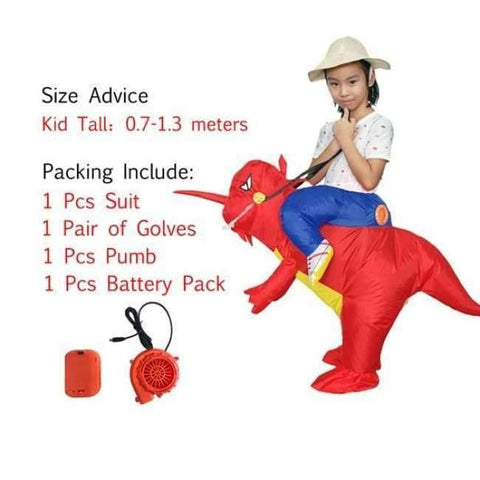 Image of Planet Gates 1006 / One Size / Dinosaur Halloween costume for women inflatable dinosaur costumes for adults  men T-rex fancy dress kids adult Fan operated