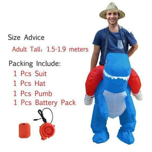 Halloween costume for women inflatable dinosaur costumes for adults  men T-rex fancy dress kids adult Fan operated