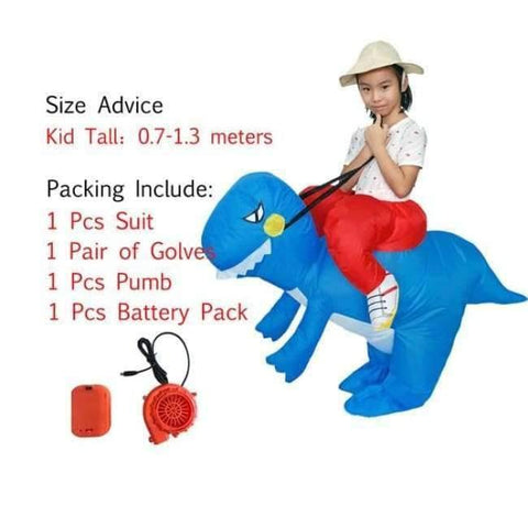 Image of Planet Gates 1009 / One Size / Dinosaur Halloween costume for women inflatable dinosaur costumes for adults  men T-rex fancy dress kids adult Fan operated