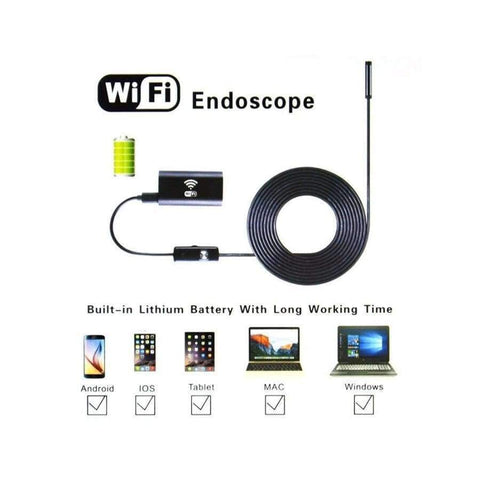 New 8mm 1/3/5/7M Wireless Wifi Endoscope Android Camera Borescope HD 720P  Waterproof Inspection IOS Iphone Endoscope Camera