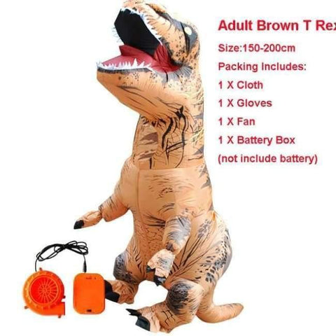 Planet Gates 1010 / One Size / Dinosaur Halloween costume for women inflatable dinosaur costumes for adults  men T-rex fancy dress kids adult Fan operated