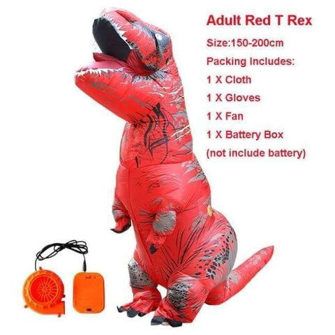 Planet Gates 1012 / One Size / Dinosaur Halloween costume for women inflatable dinosaur costumes for adults  men T-rex fancy dress kids adult Fan operated