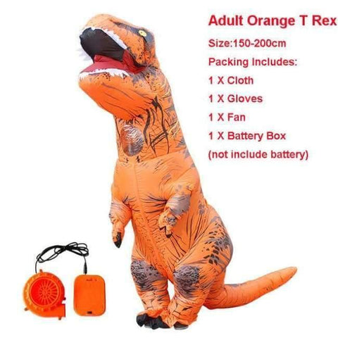 Planet Gates 1013 / One Size / Dinosaur Halloween costume for women inflatable dinosaur costumes for adults  men T-rex fancy dress kids adult Fan operated