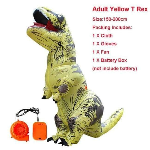 Image of Planet Gates 1014 / One Size / Dinosaur Halloween costume for women inflatable dinosaur costumes for adults  men T-rex fancy dress kids adult Fan operated