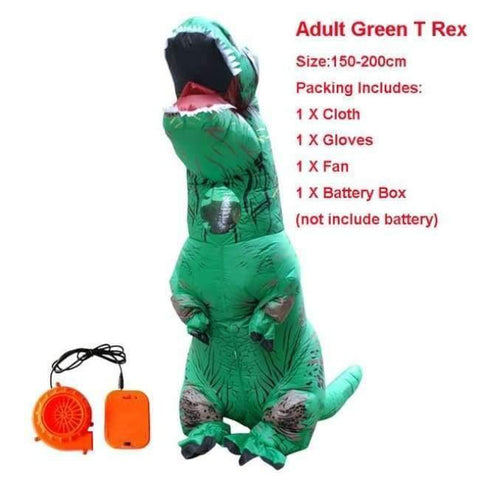 Planet Gates 1015 / One Size / Dinosaur Halloween costume for women inflatable dinosaur costumes for adults  men T-rex fancy dress kids adult Fan operated