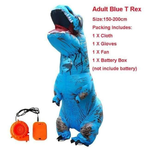 Planet Gates 1016 / One Size / Dinosaur Halloween costume for women inflatable dinosaur costumes for adults  men T-rex fancy dress kids adult Fan operated