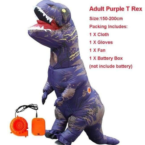 Image of Planet Gates 1017 / One Size / Dinosaur Halloween costume for women inflatable dinosaur costumes for adults  men T-rex fancy dress kids adult Fan operated
