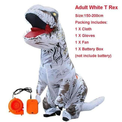 Image of Planet Gates 1019 / One Size / Dinosaur Halloween costume for women inflatable dinosaur costumes for adults  men T-rex fancy dress kids adult Fan operated