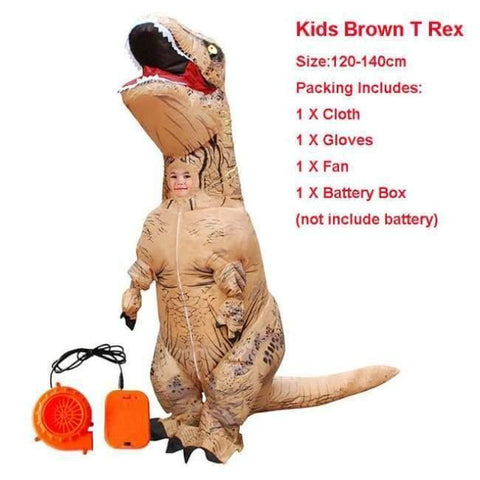 Image of Planet Gates 1020 / One Size / Dinosaur Halloween costume for women inflatable dinosaur costumes for adults  men T-rex fancy dress kids adult Fan operated