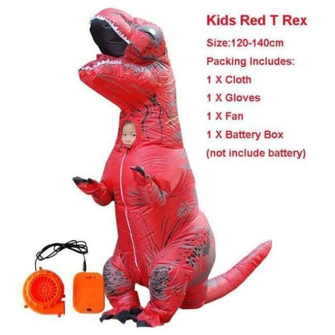 Planet Gates 1021 / One Size / Dinosaur Halloween costume for women inflatable dinosaur costumes for adults  men T-rex fancy dress kids adult Fan operated
