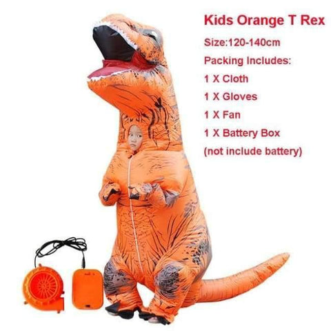Image of Planet Gates 1022 / One Size / Dinosaur Halloween costume for women inflatable dinosaur costumes for adults  men T-rex fancy dress kids adult Fan operated