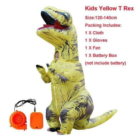 Planet Gates 1023 / One Size / Dinosaur Halloween costume for women inflatable dinosaur costumes for adults  men T-rex fancy dress kids adult Fan operated