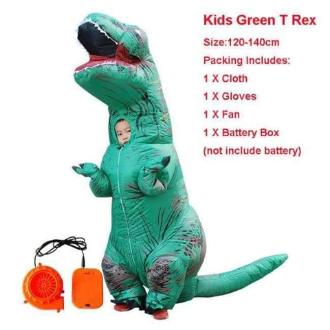 Planet Gates 1024 / One Size / Dinosaur Halloween costume for women inflatable dinosaur costumes for adults  men T-rex fancy dress kids adult Fan operated