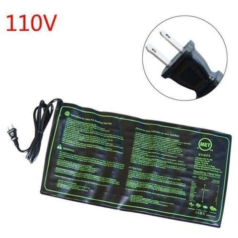 Planet Gates 110V Seedling Heat Mat Plant Seed Germination Growth Heat Mat 50x25cm 110V/220V 18W Garden Greenhouse Supplies US UK EU Plug 1 Pc