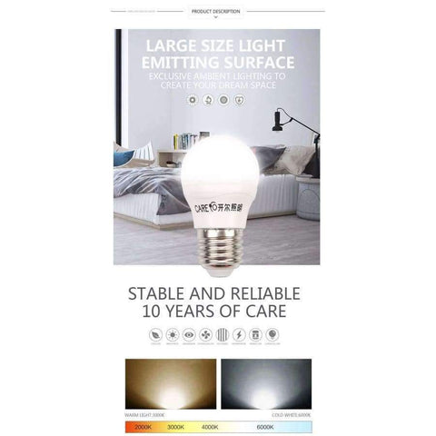 Image of Planet Gates 11W E27 3000K 4pcs Care Globe LED Light Bulb 3W 5W 7W 9W 10W 11W e14 e27 LED Lighting Light Lamp Bulbs 6500K 4000K 3000K and Three Colors Dimmable