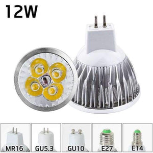 لمبة الضوء LED MR16 GU10 Light E27 E14 Spot Lamp 2835 SMD Lampada GU5.3 220V 110V 12V 3W COB bulb 9W 12W 15W for Home Decor