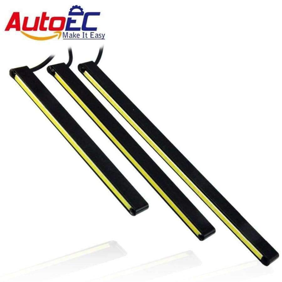Planet Gates 13cm AutoEC Universal LED COB DRL 13cm/16cm/19cm Auto Car Motorcycle Daytime Running Lights Lamp Ultra Slim LED DRL Strip #LM133